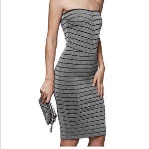 BNWT Reiss Strapless bodycon metallic dress